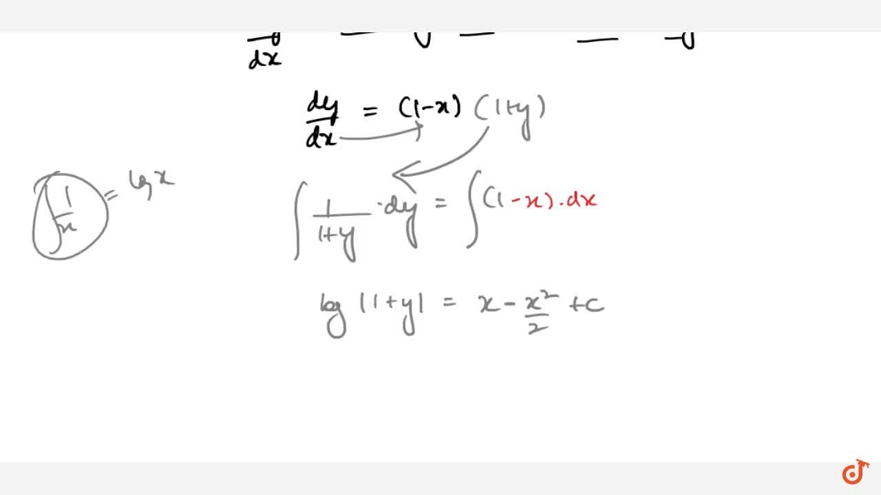 Solution for Solve the differential equation(dy),(dx)=1-x+y-x