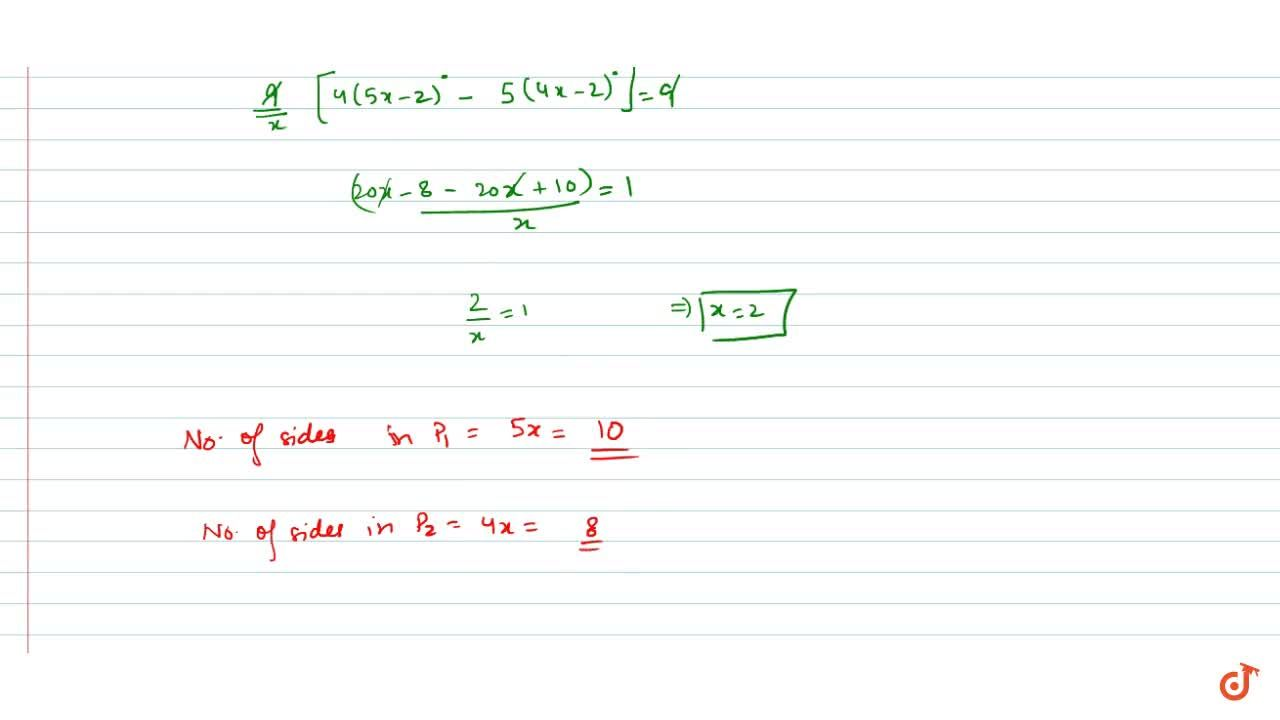Solution for The number of sides of two regular polygons are as