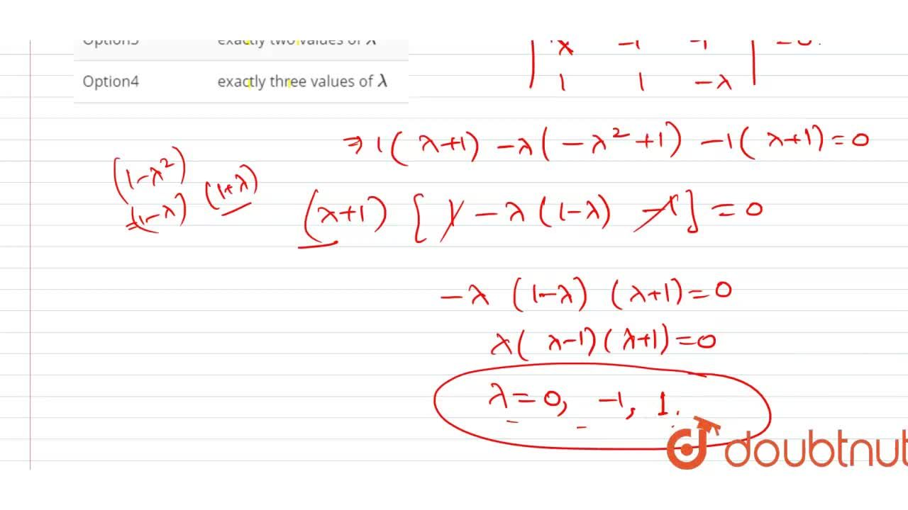 Solution for The system of linear equations <br> x + lambda y-