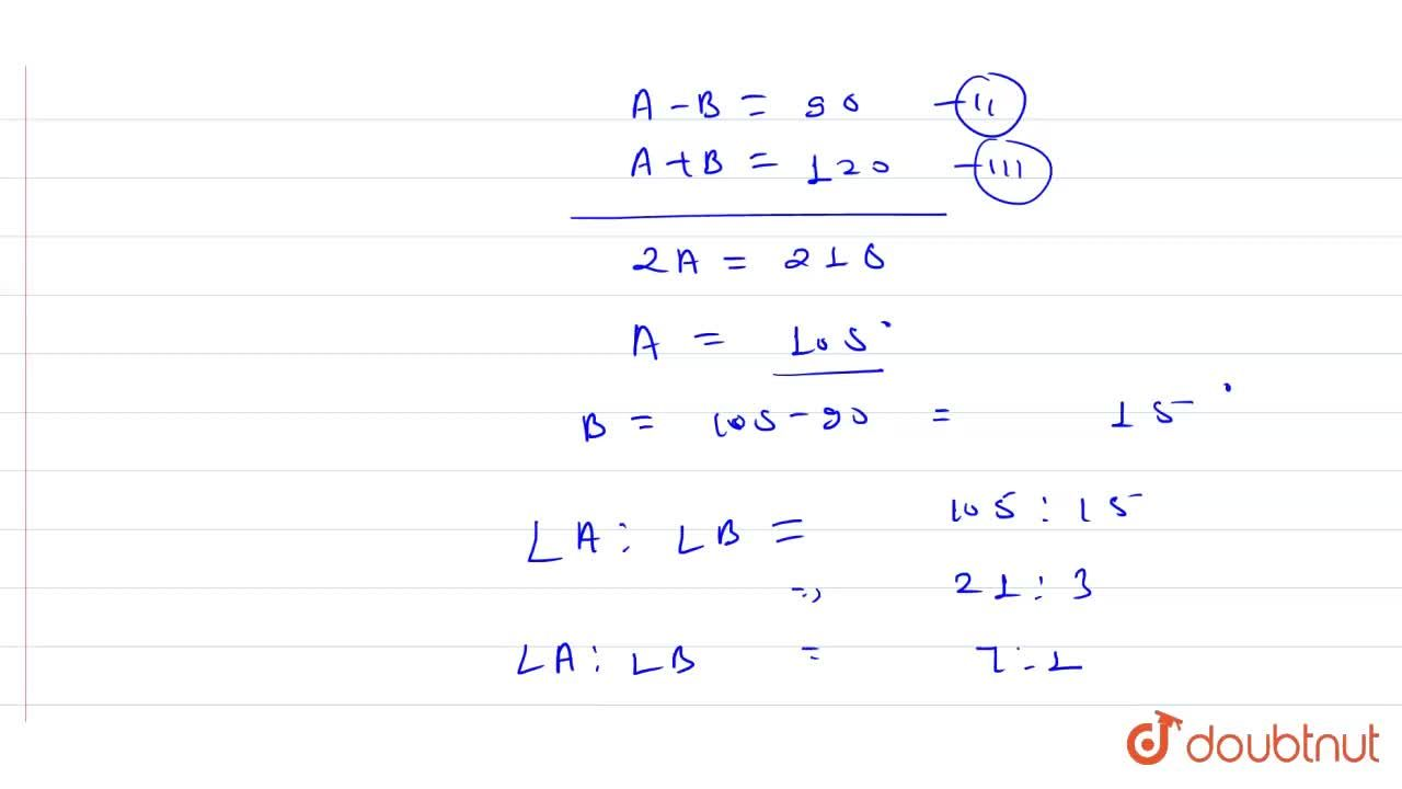 Solution for With the usual notation in DeltaABC if <br> ang