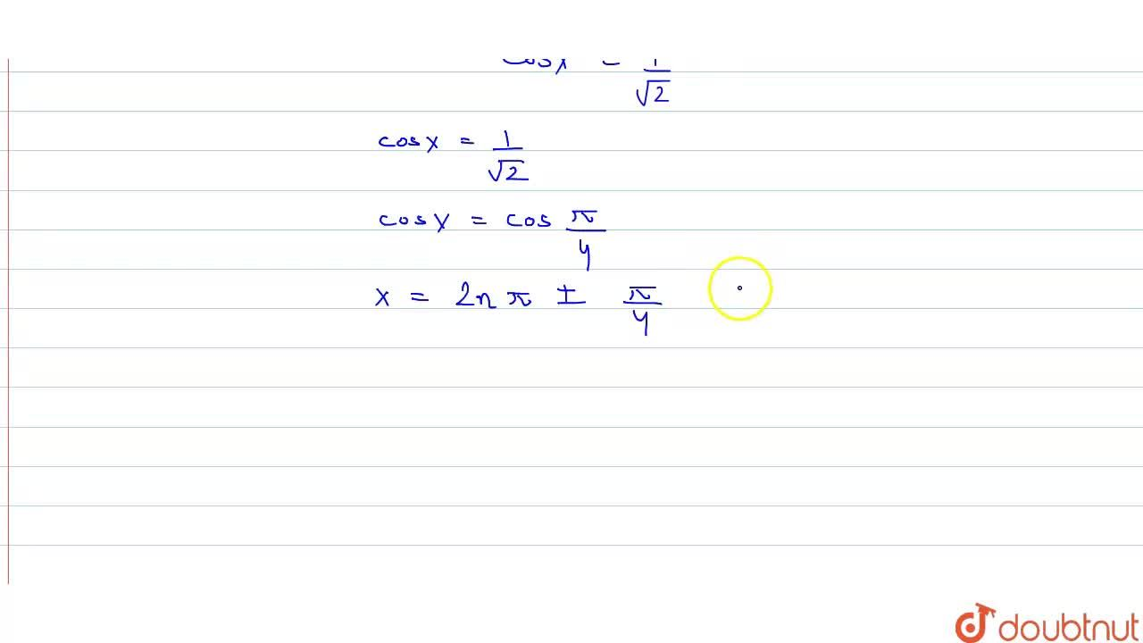 Solution for (i) sinx=(sqrt(3)),(2)   <br>   (ii)   cosx=1