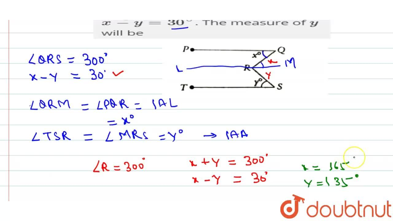 Solution for In the figure below (not to scale) , bar(PQ)||bar