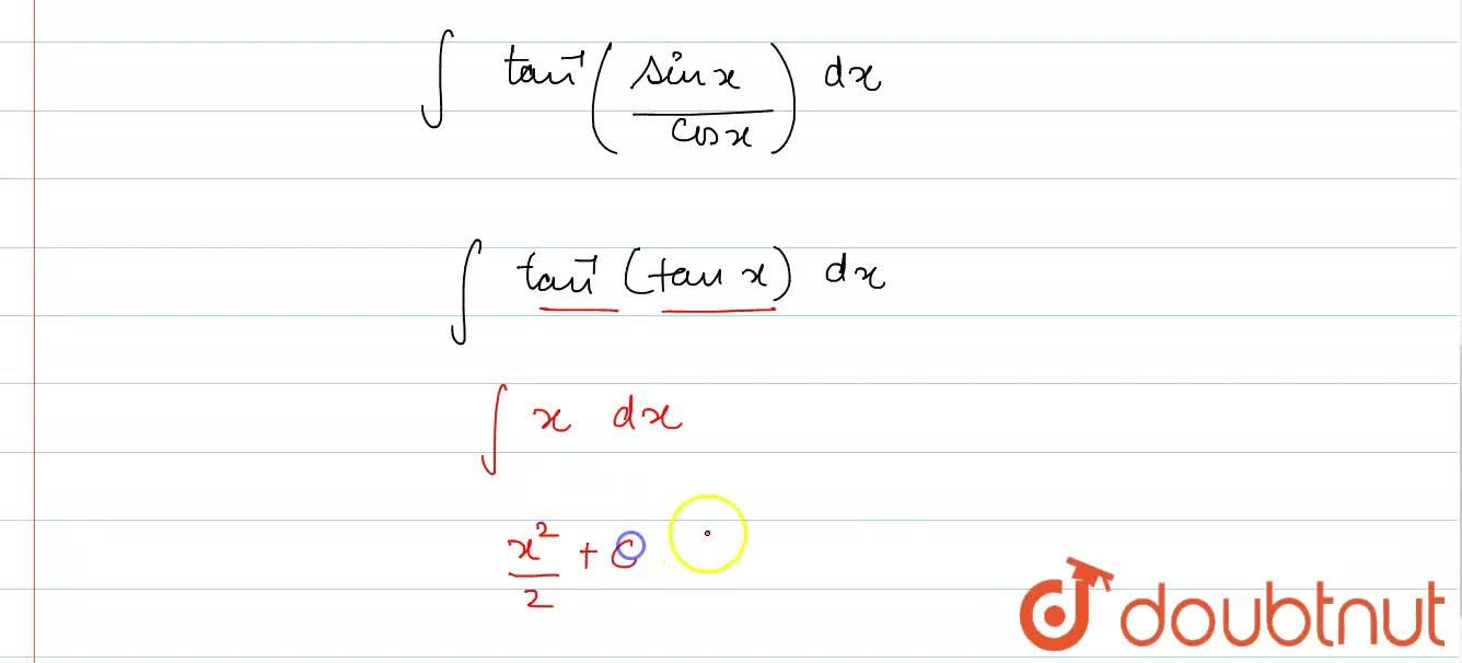 Solution for Evaluate : int tan^(-1){sqrt((1-cos2x),(1+cos2x))