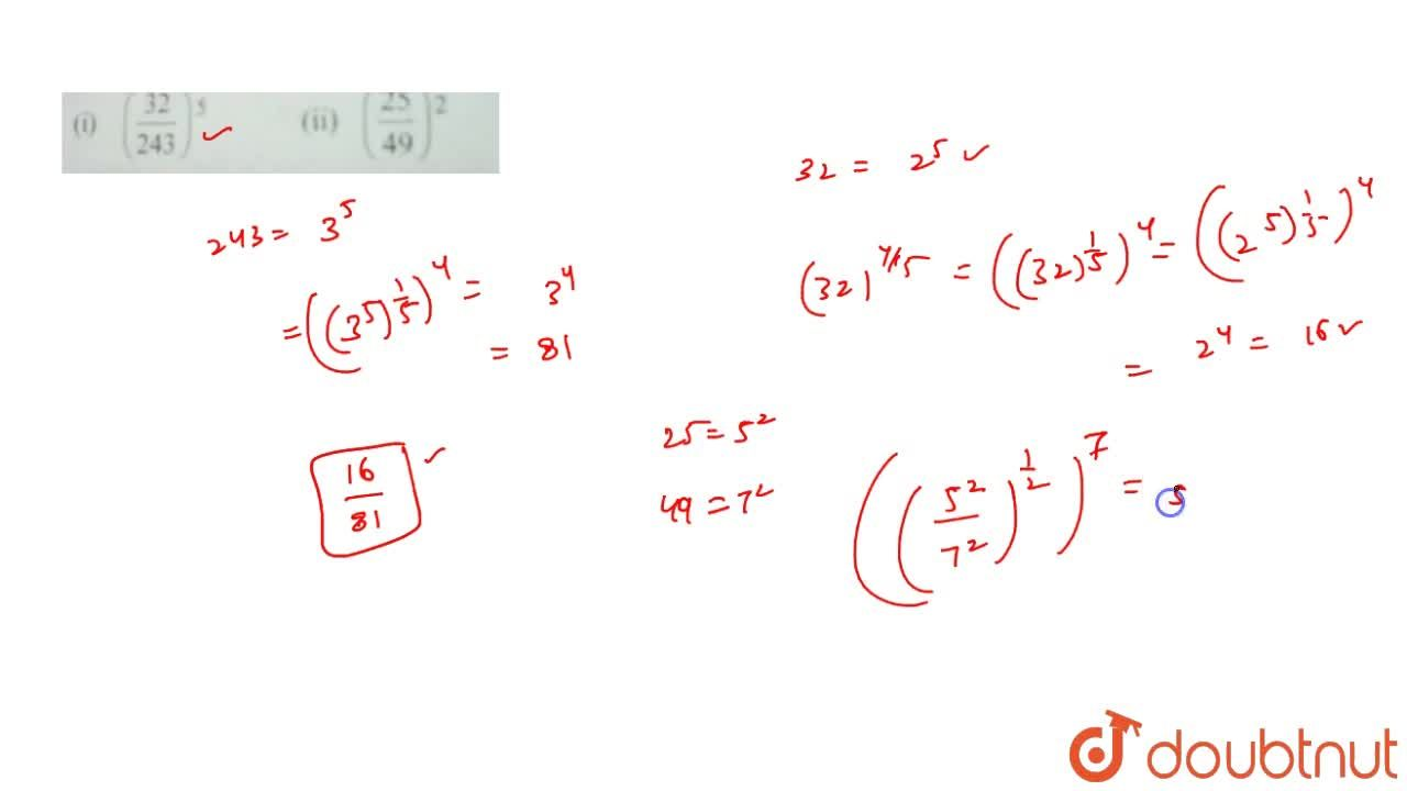 Solution for  Find the value of the following:    (1) ((32),(2