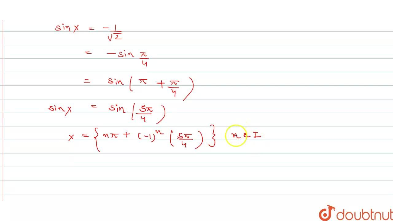 """Find the general solution of each equation :    <br>   (i)   sqrt(3)cotx+1=0      <br>  (ii)   """"cosec """"x+sqrt(2)=0"""