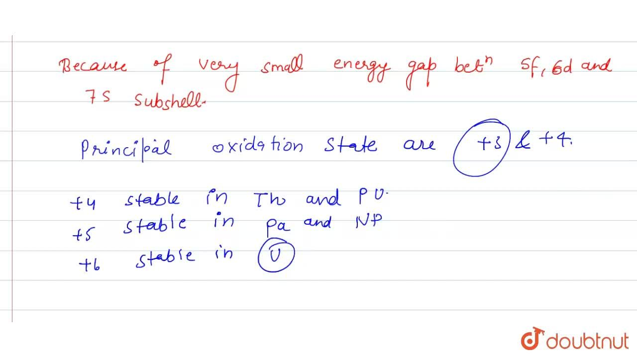 Solution for Why do actinoid elements show wide range of oxidat