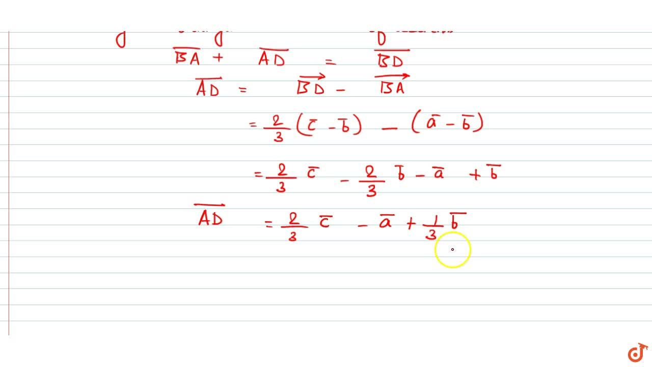 Solution for Let position vectors of points A,B and C are vec