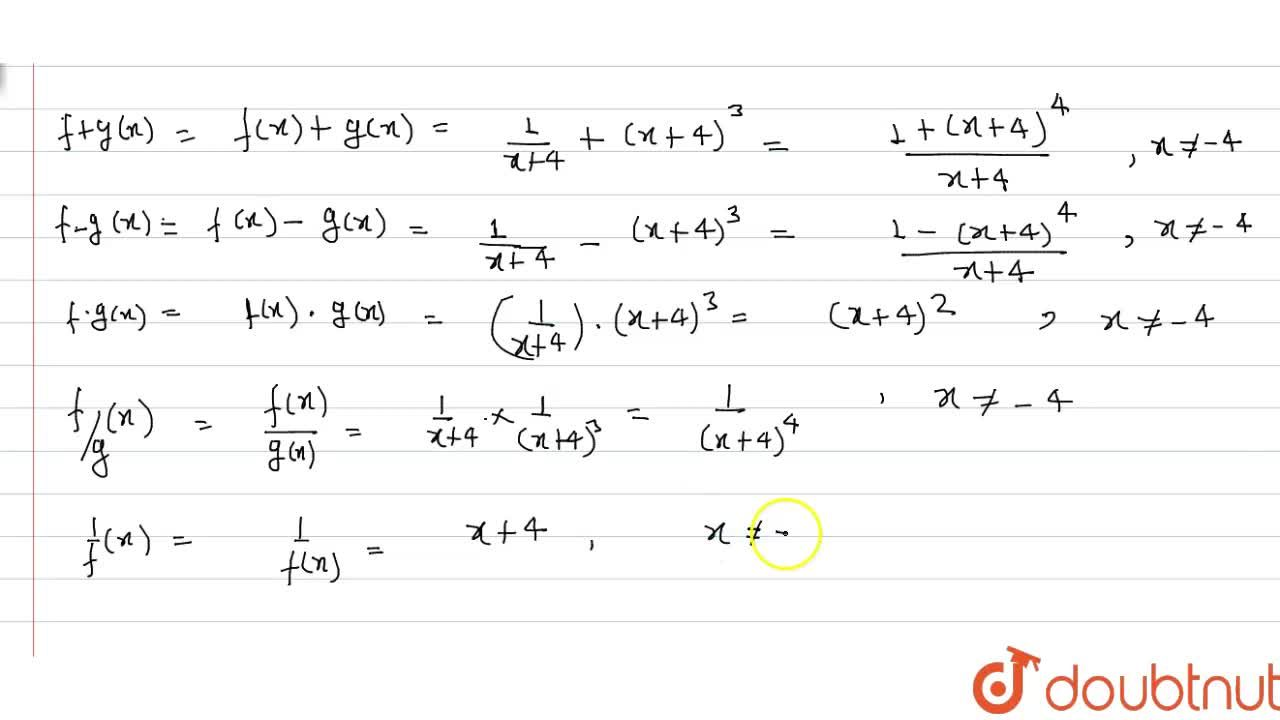 Solution for Let f and g be real functions, defined by f(x)=(1