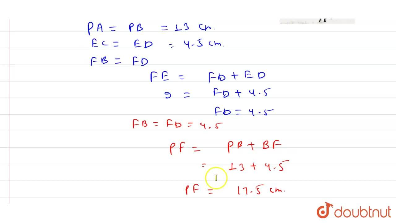 Solution for In the given figure, PA, PB EC and ED are tangents