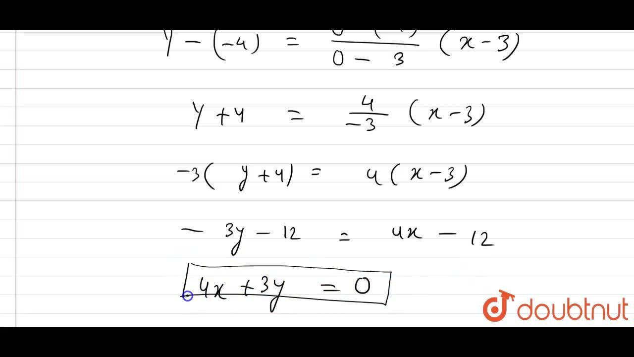 Find the equation of the line drawn through the point of intersection of the lines x-y=7 and 2x+y=2 and passing through the origin.