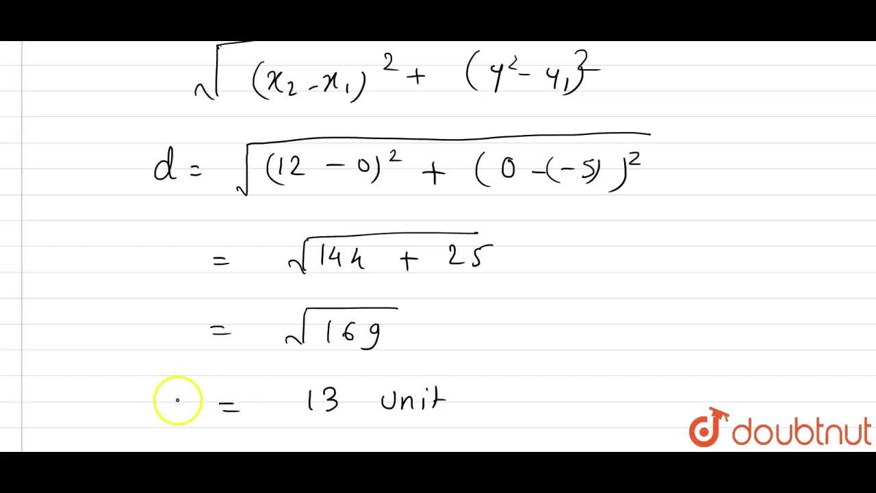 Reduce the equation 5x-12y=60 to intercepts form. Hence, find the length of the portion of the line intercepted between the axes.