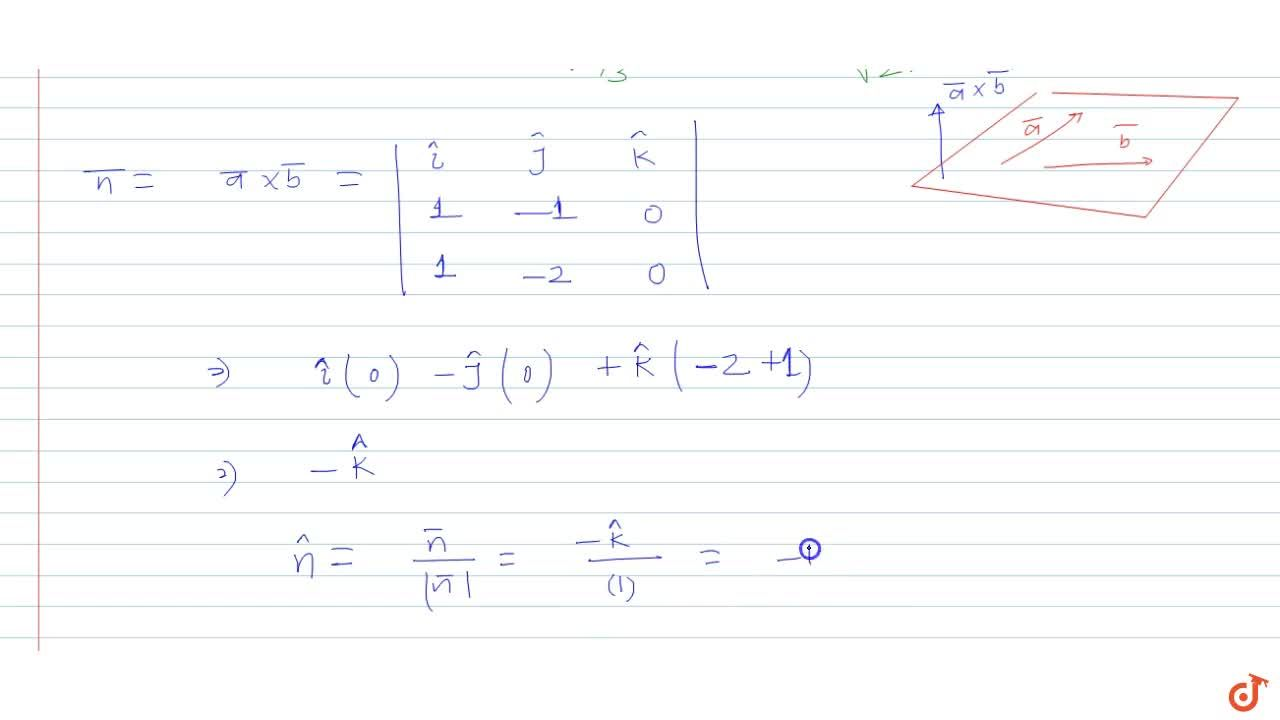 Solution for Given that i-j,  i - 2j  are two vectors. Find a