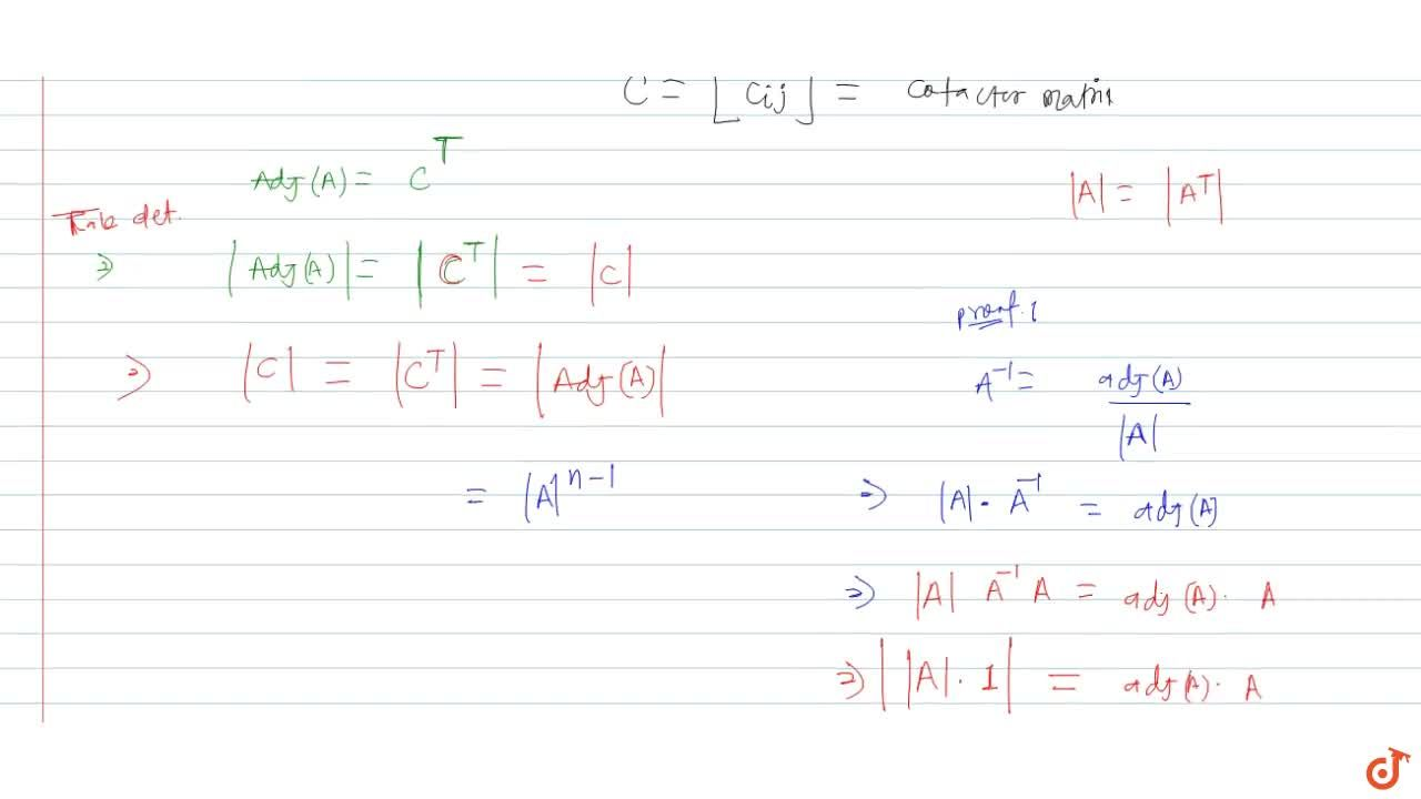 Solution for Let A=[a_(ij)]_(nxxn) be a square matrix and let