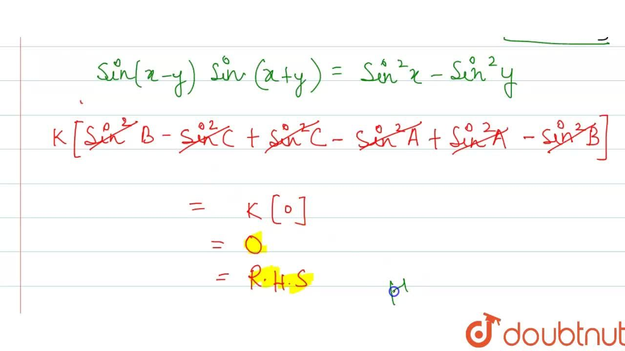 """Solution for In any DeltaABC, prove that """"a sin (B - C) + bs"""