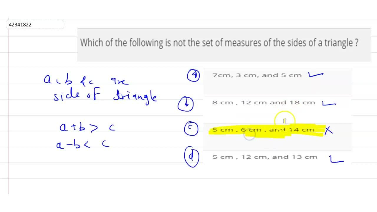 Solution for Which of the following is not the set of measures