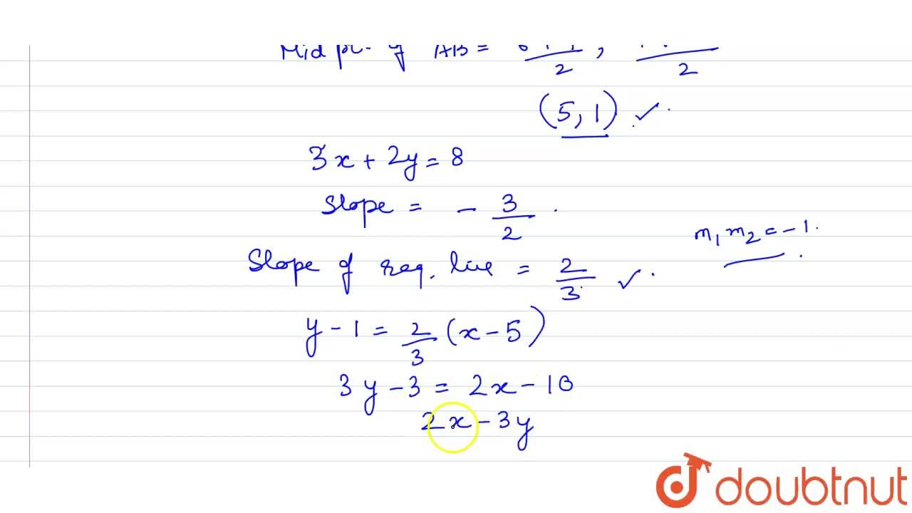 Solution for Find the equation of the line which is perpendicul