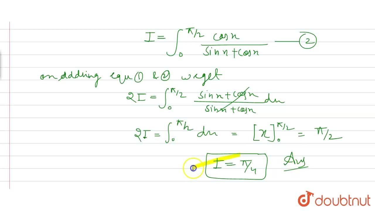 Solution for int_(0)^(pi,,2)(tanx),((1+tanx))dx=?