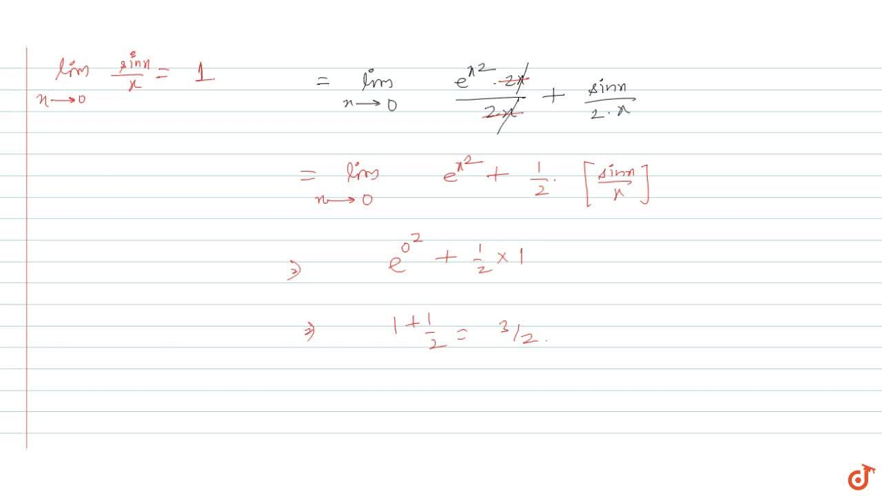 Solution for If the function f(x)=(e^(x^2)-cos x),(x^2)  for
