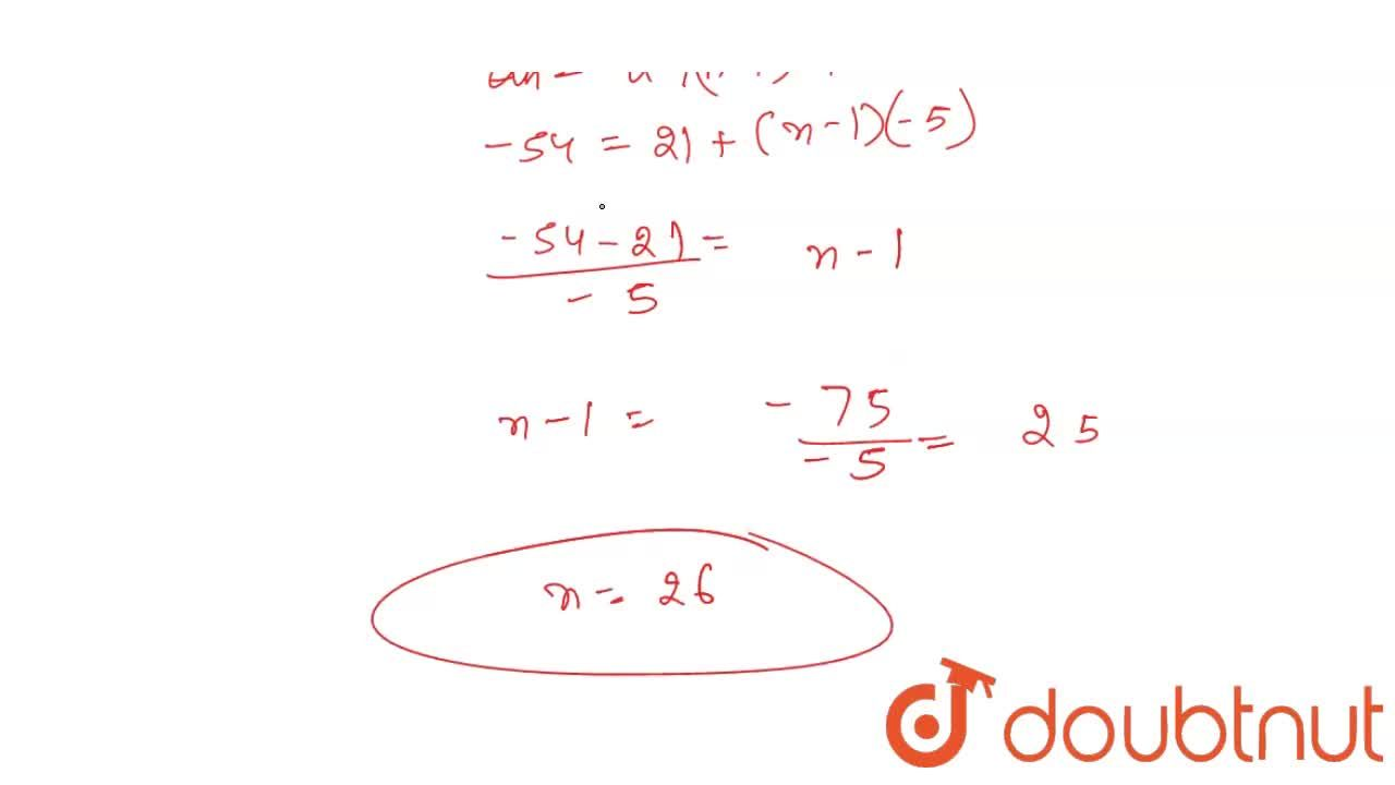 Solution for Show that the progression 21,16,11,6,1,…, is an AP