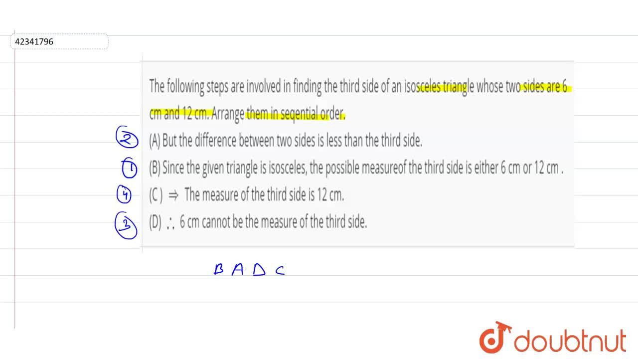 Solution for The following steps are involved in finding the th