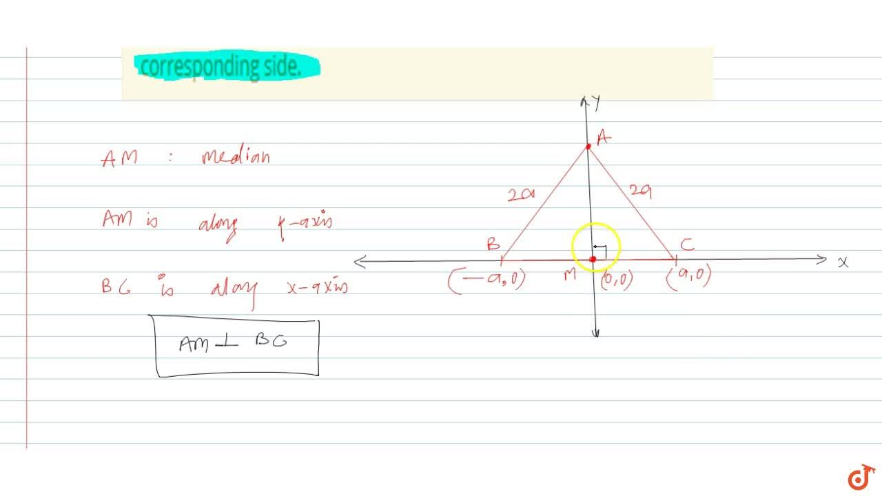 Solution for Prove that a median of an equilateral triangle is