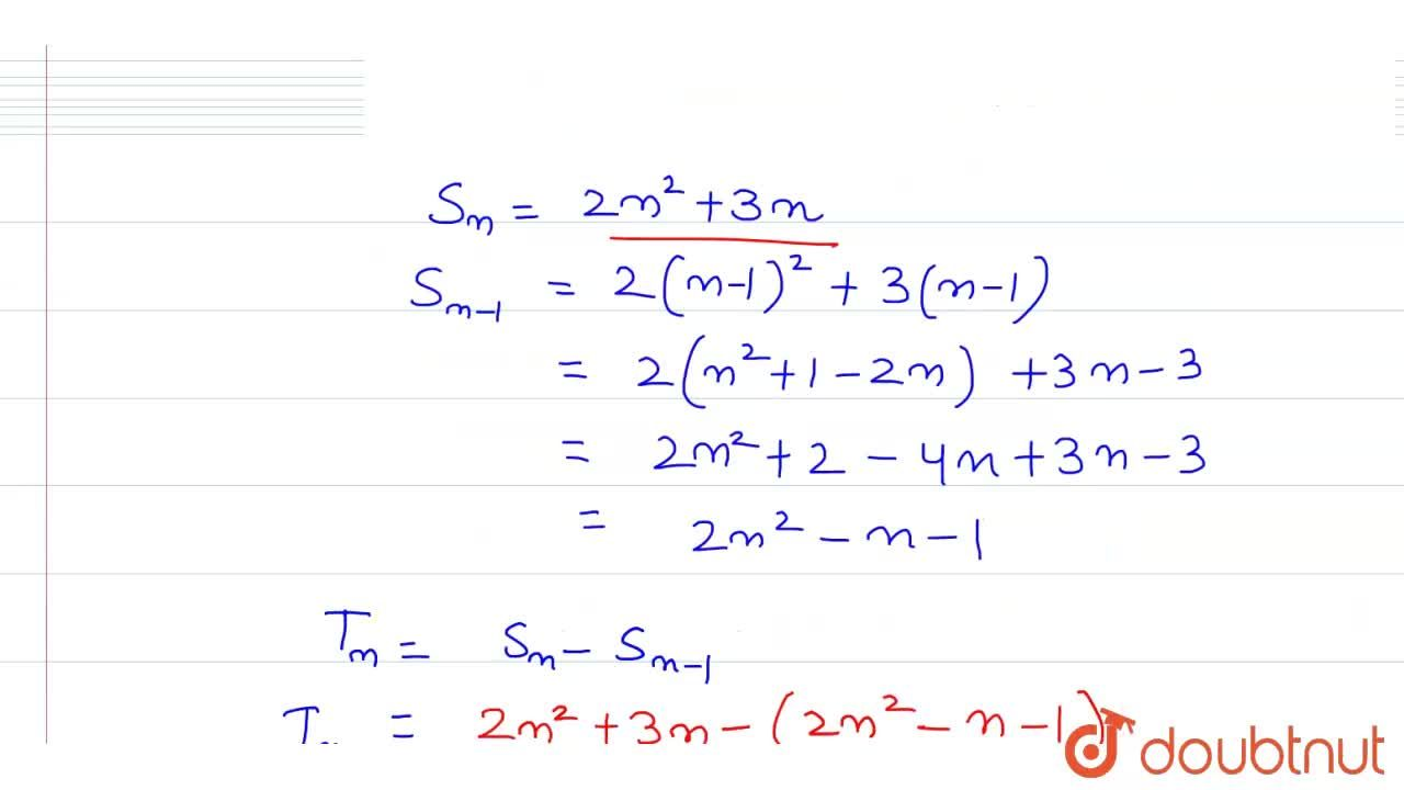 Solution for If the sum of n terms of an AP is given by  S_(n)