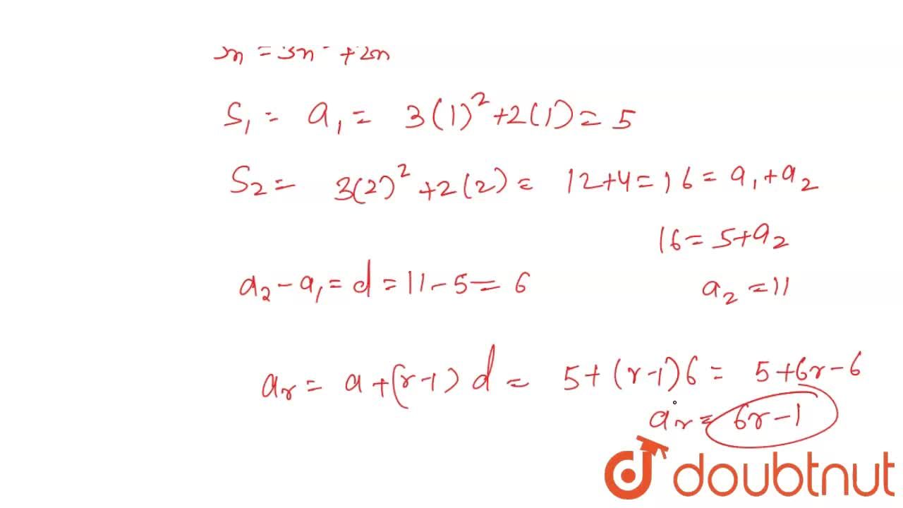 Solution for Find the rth term of an AP, the sum of whose first