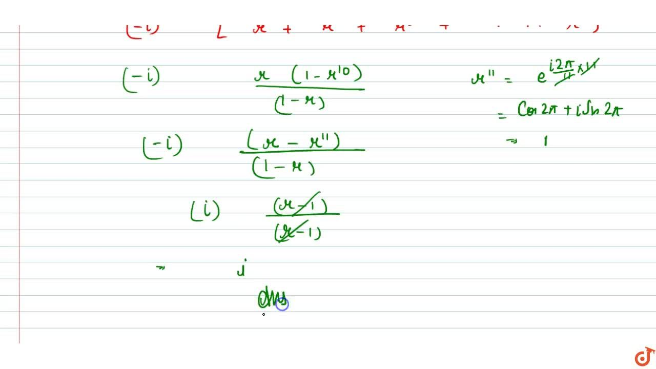 Solution for The value of sum_(k=1)^10(sin(2pik),11-icos(2pik)