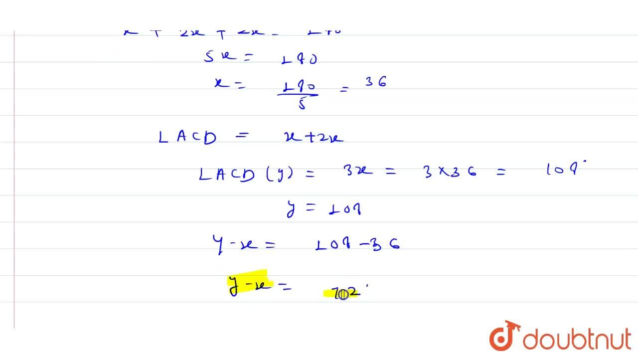 Solution for In the figure given below, AB=AC and BC is extende