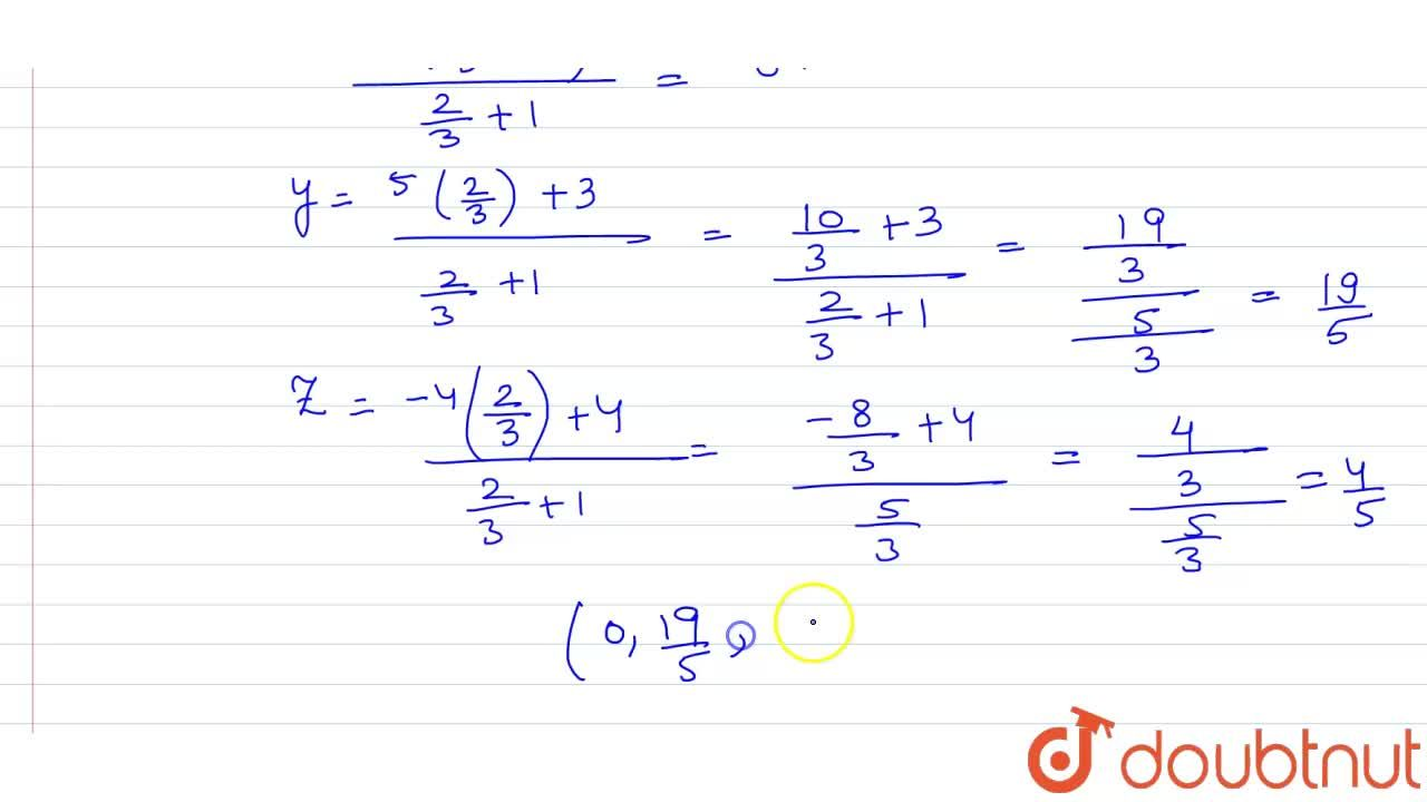 Solution for Find the ratio in which the line segment, joining