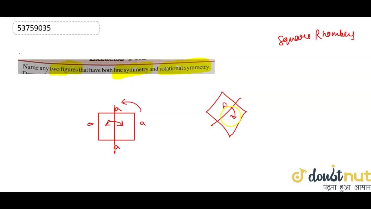 Solution for   Name any two figures that have both line symmetr