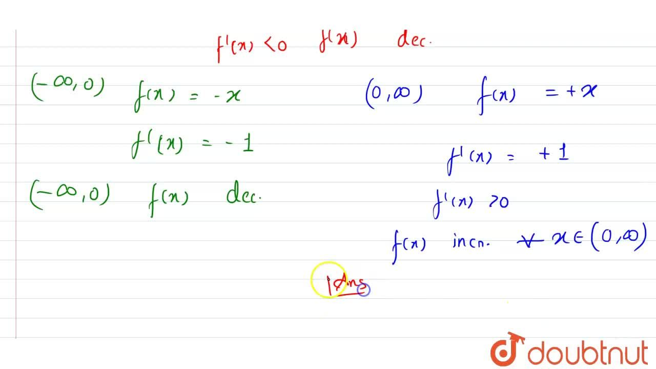 Solution for Show that the function f(x ) =  x  is <br> (a) s
