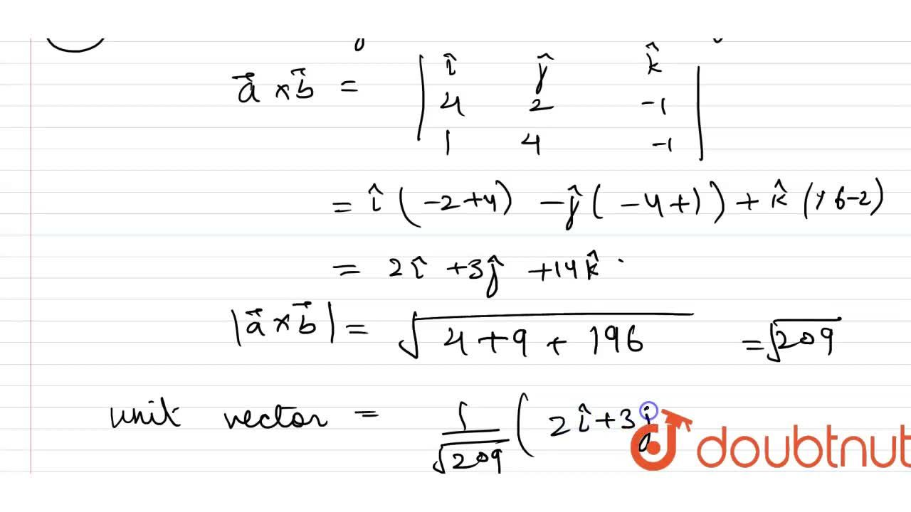 Solution for Find the unit vectors perpendicular to  both vec(