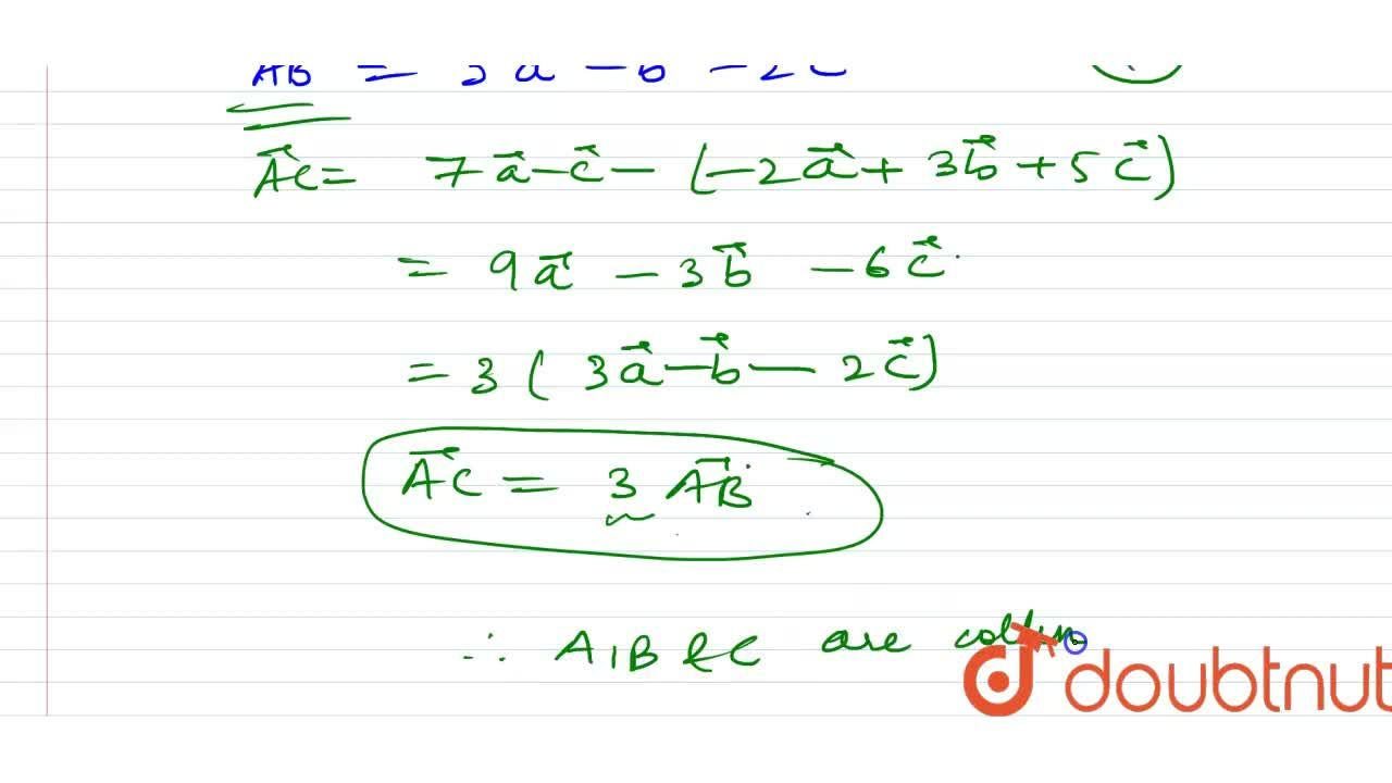 Solution for Show that the points having position vectors (-2v