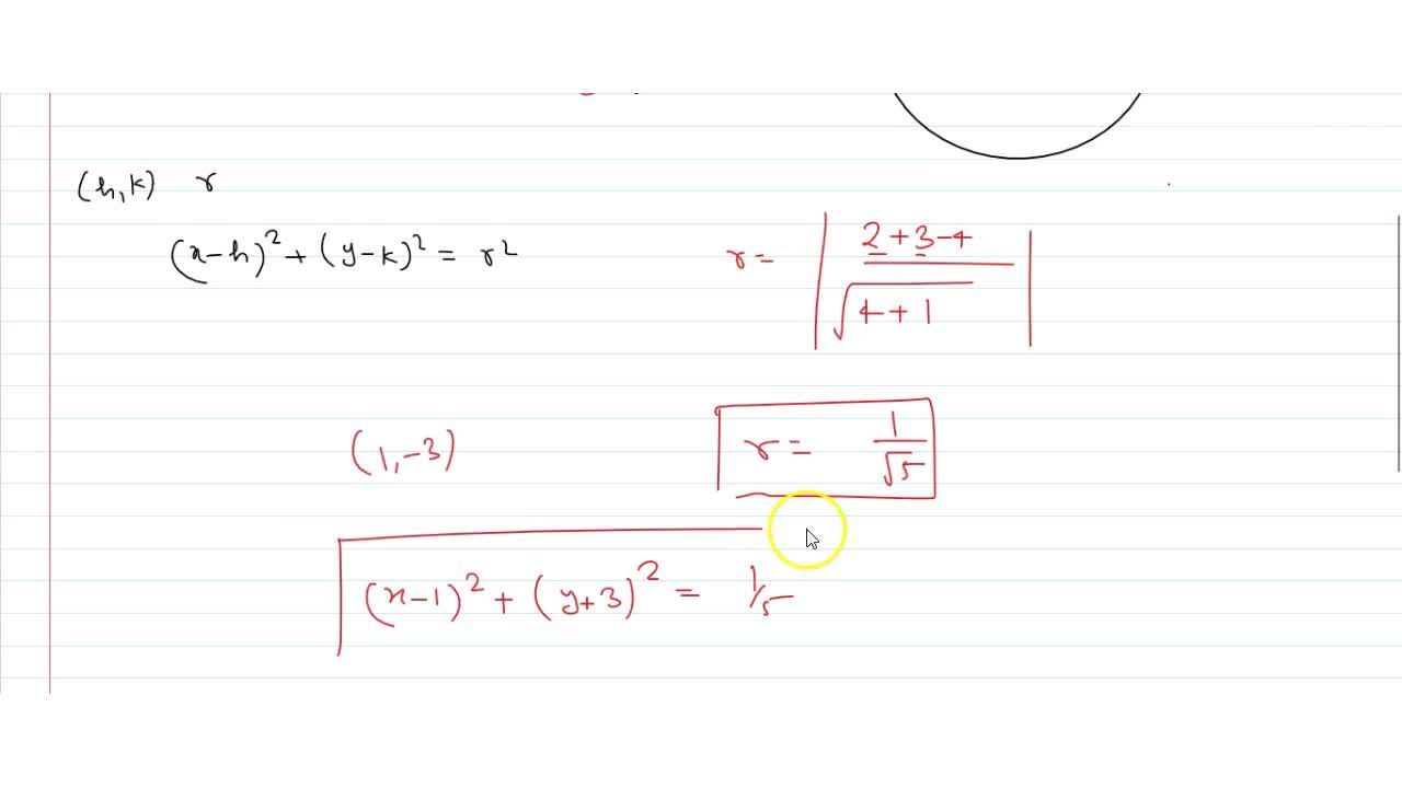 Solution for Find the equation of circle whose centre is the po