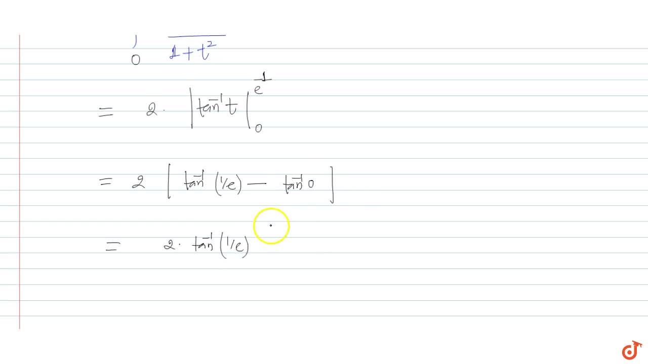 Solution for int_- 1^1(e^(-1, x)),(x^2(1+e^(-2, x)))dx is equ