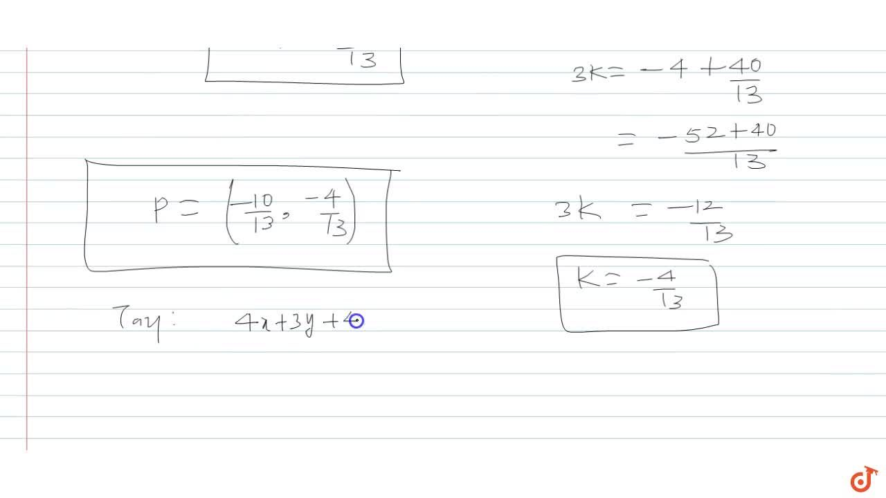Solution for find the coordinates of the points at which the ci