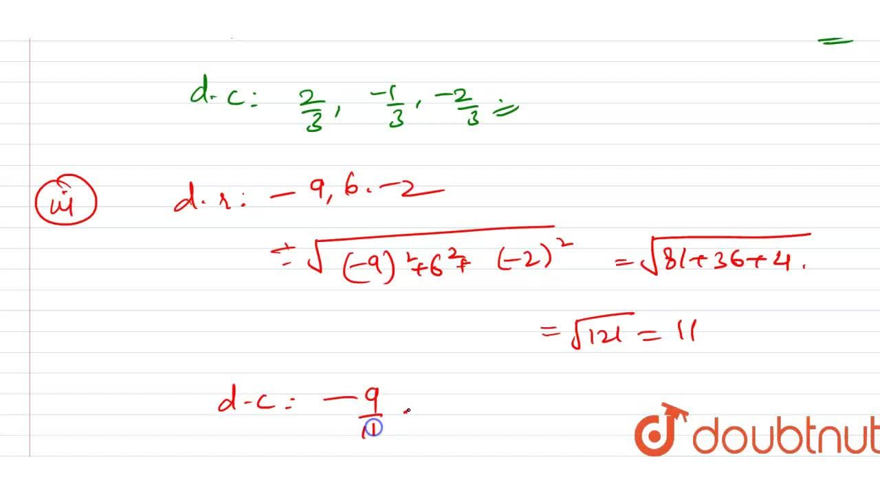 Solution for Find the direction of a line segment whose directi