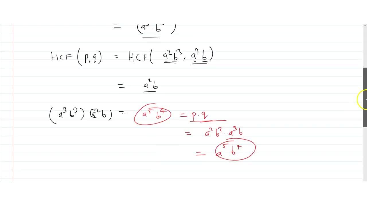 Solution for If two positive integers p and q are written a
