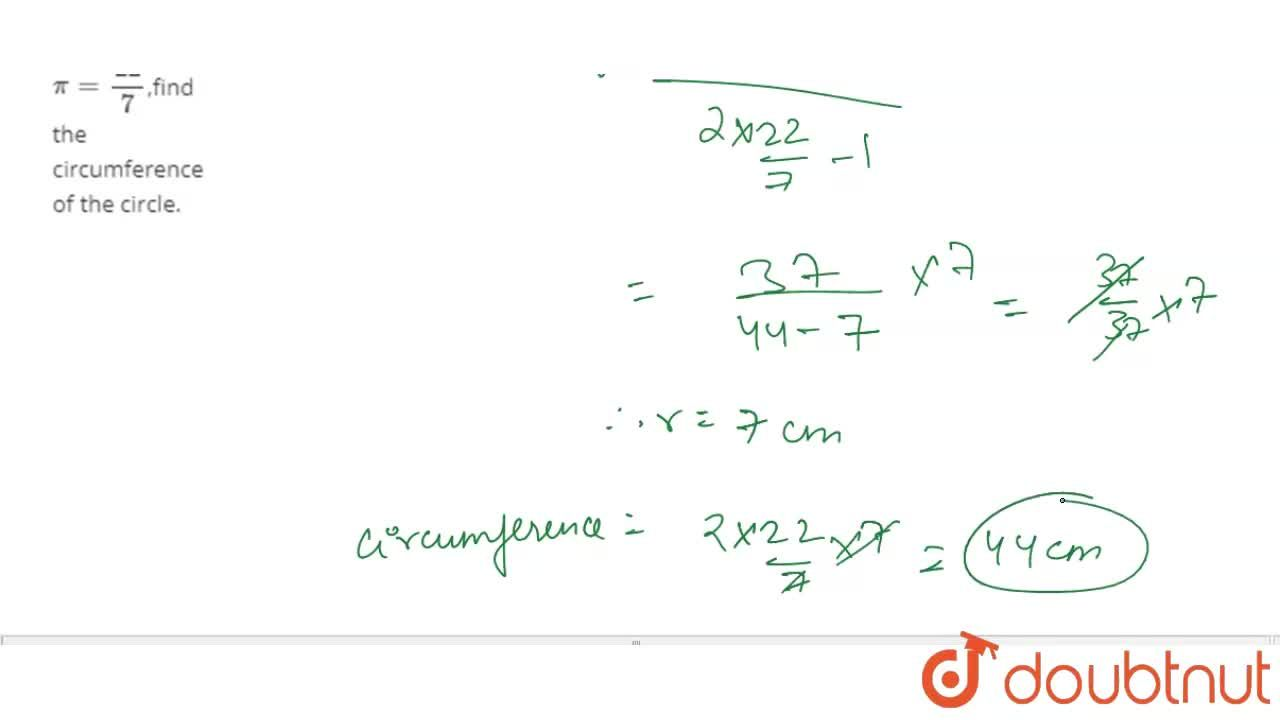 Solution for The difference between the circumference and radiu