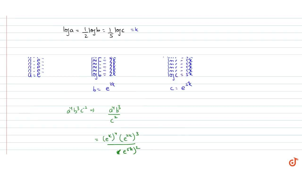 If loga=1,2 logb=1,5logc then a^4b^3c^(-2)=