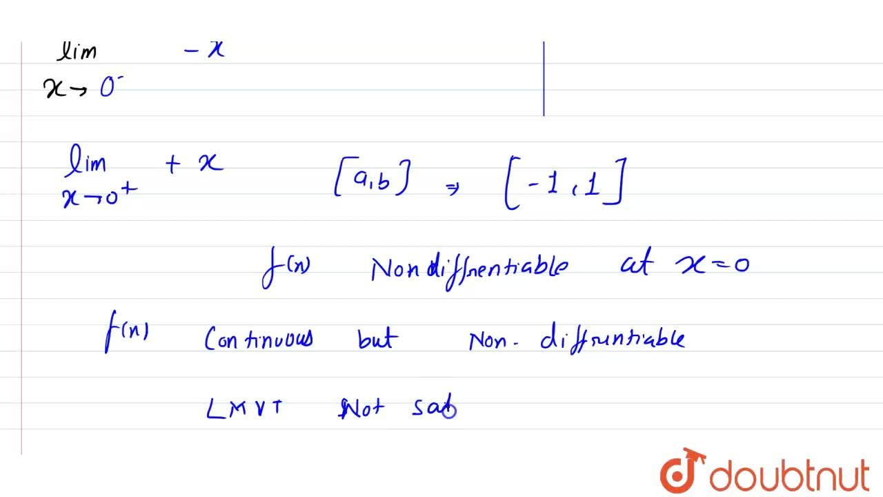 """Show that Lagrange's mean-value theorem is not applicable to f(x) = 