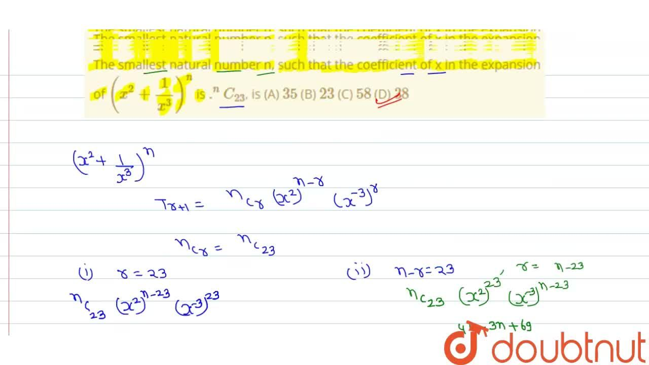 Solution for The smallest natural number n, such that the coeff