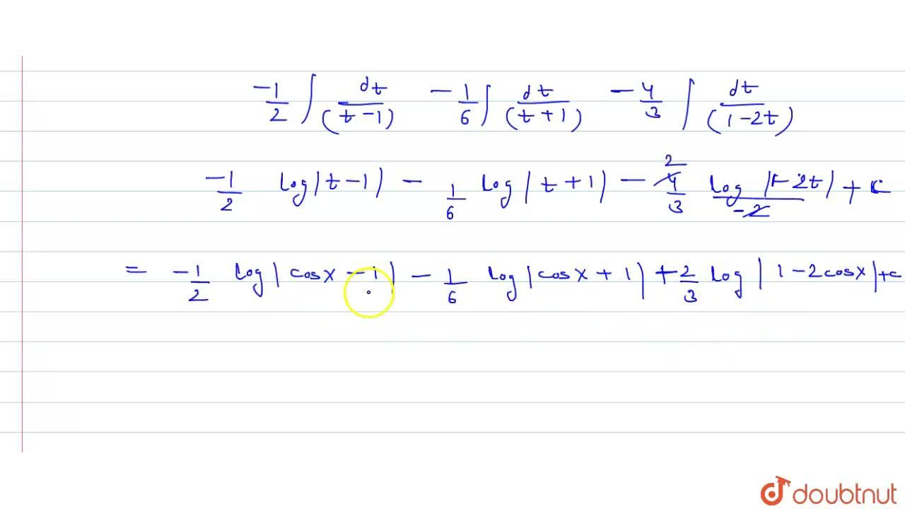 Solution for Evaluate  int(dx),((sinx-sin2x)).