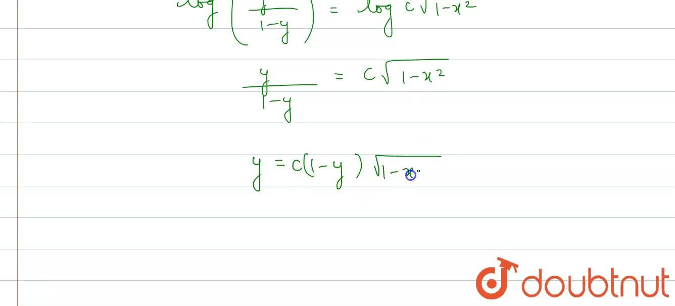 Solution for Find the general solution of each of the following