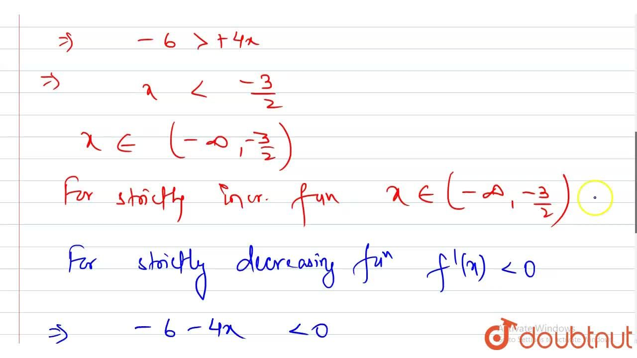 Solution for Find the intervals on which the function f(x) = 1