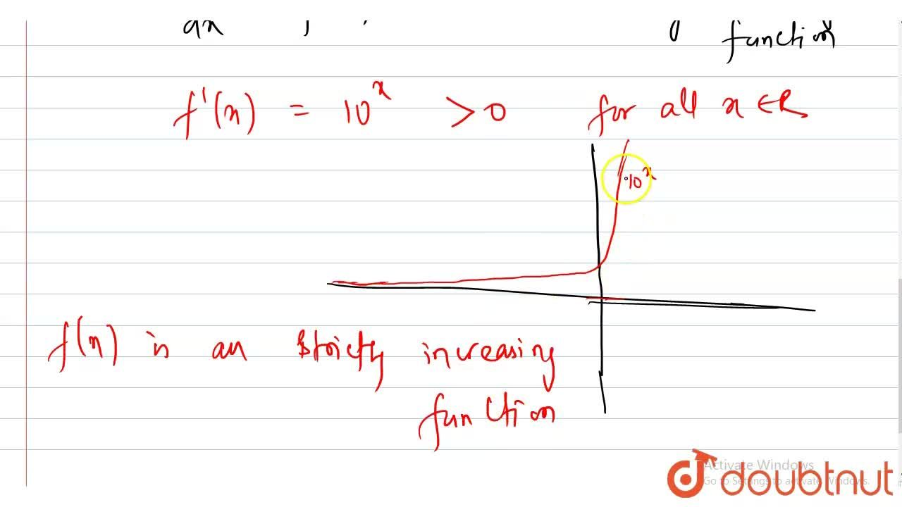 Solution for Prove that the function f(x) = 10^(x) is strictl