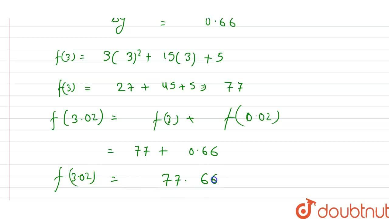 Solution for If f(x) = 3x^(2) + 15x + 5, then find the approx