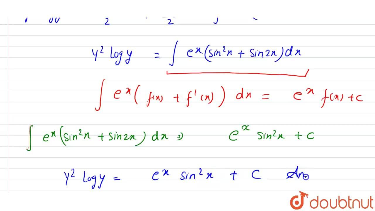 Solution for Solve the differential equation <br> (dy),(dx) =(