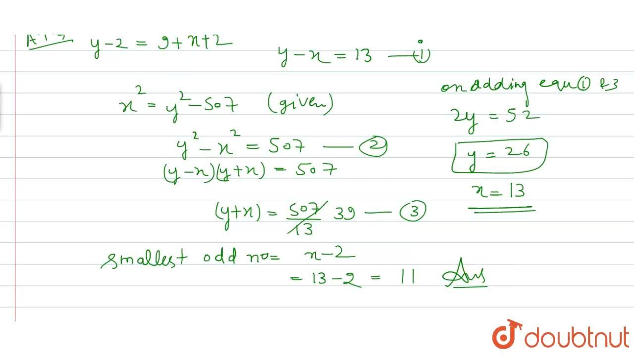 Solution for There are 3 consecutive odd numbers and 3 consecut